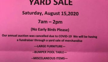 Vida Community Center 'Keeping The Lights On' With Yard Sale Aug. 15; Annual Fundraiser was Canceled due to Virus