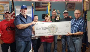 American Legion Post 133 Presents Owasso Foundation of Clanton with $5,000 to Help Homeless Veterans