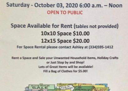 American Legion Post 122 of Prattville Hosting Outdoor Rummage Sale Oct. 3 to Raise Funds for Christmas Project