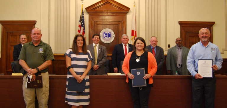 Child Nutrition Program and County Volunteers Recognized During Commission Meeting
