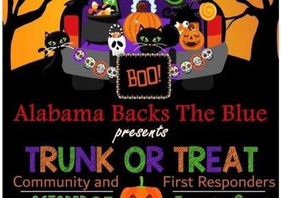 Trunk or Treat Event at Coaches Corner Sunday in Wetumpka; Hosted by Alabama Backs the Blue