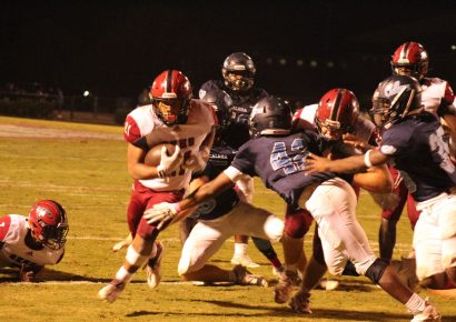 Trone Rushes for 4 Touchdowns as Mustangs Overcome 21 Point Deficit to Win at Calera, 35-27