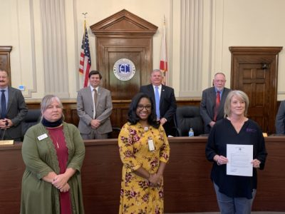 October is Domestic Violence Awareness Month: Elmore Commission Signs Recognition Resolution