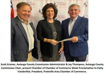 Autauga County and City of Prattville Honor Prattville Area Chamber of Commerce