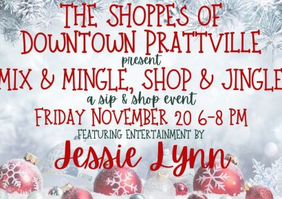 Mix & Mingle, Shop & Jingle in Downtown Prattville Nov. 20