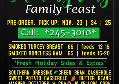 Smokehouse BBQ of Millbrook Can Help With Your Thanksgiving Food Planning