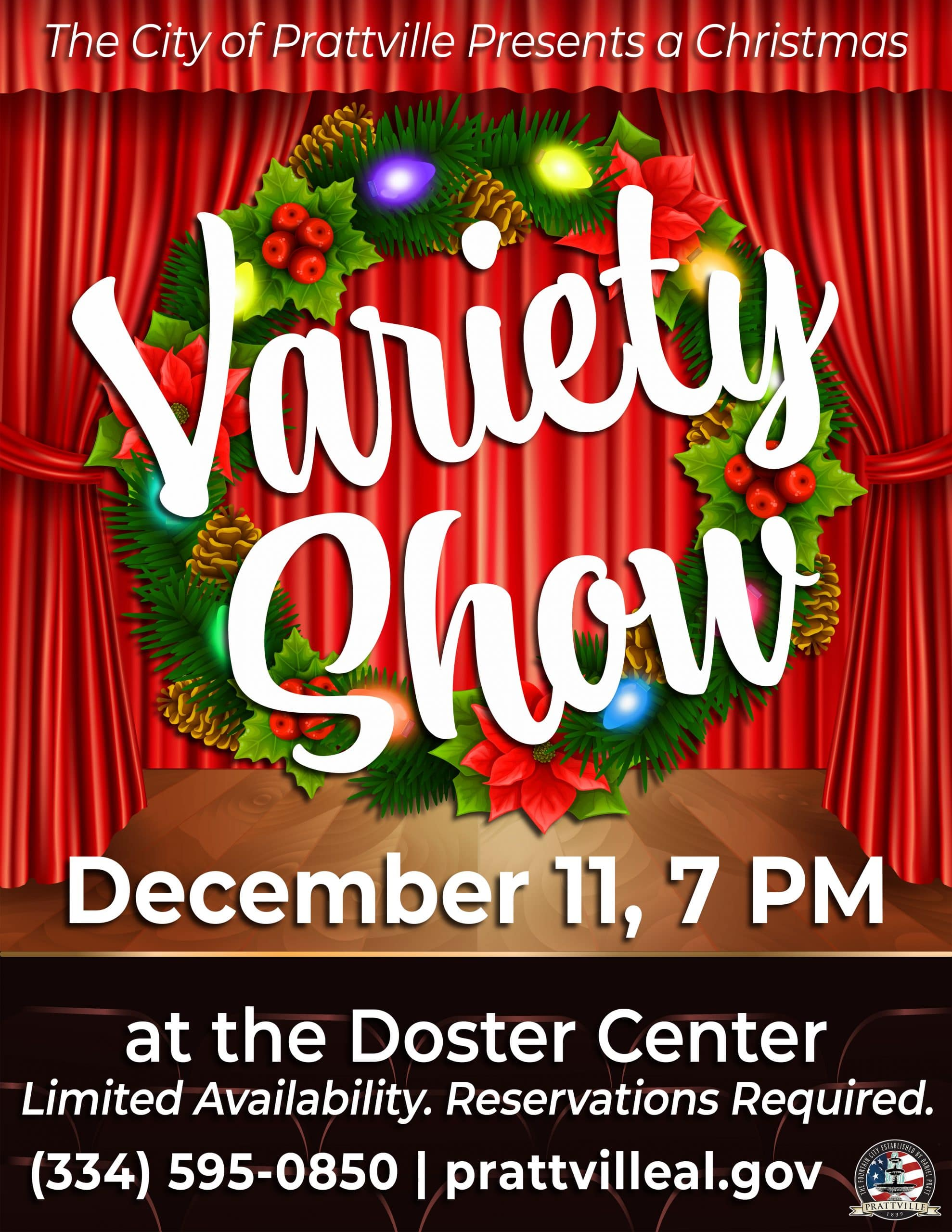 Prattville Christmas 2020 Prattville to Hold Christmas Variety Show at Doster Center Dec. 11