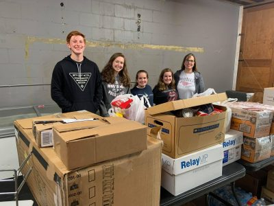 SEHS Jr. Civitan Members Collect 2,448 Items for WELCOME Food Pantry During Campus-Wide Drive