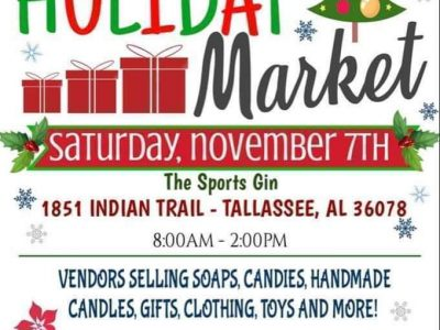 Want Something Fun to Do Today? Tallassee has their Jingle At the Gin Holiday Market from from 8 a.m. until 2 p.m.