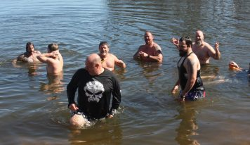 Brave Group Takes 'Polar Bear Plunge' To Raise $4,025 for Marbury Youth Football League