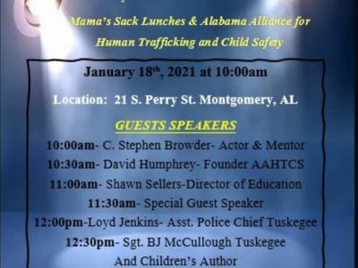 January is Human Trafficking Prevention Month; Learn More at Jan. 18 Event in Montgomery