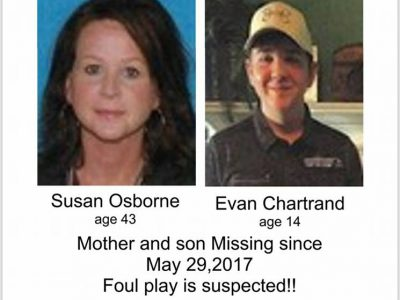Still Missing – The Case of Susie Osborne and her Son Evan Chartrand; New Podcast Released