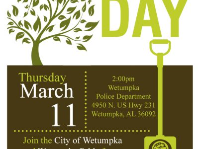 Wetumpka Celebrating Arbor Day March 11; Planting Tree in Memory of Police Chief Danny Billingsley