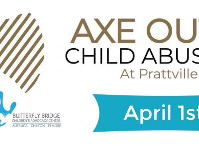 Butterfly Bridge: April is Child Abuse Awareness Month; 'Axe Out Child Abuse' is April 1