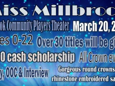 Spots Still Open for Miss Millbrook Contest coming March 20 to Millbrook Players Theatre