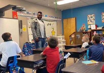 Prince Tega: Former Edgewood Academy Football Star Pays Visit to School