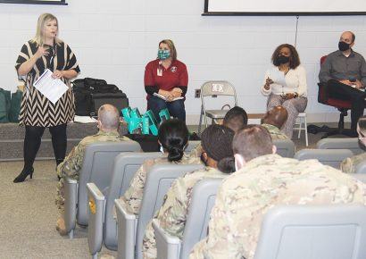 Taylor and ADRS team with the Alabama National Guard for disability etiquette training
