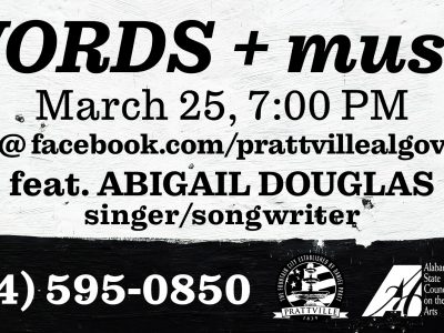 Prattville's 'Words and Music': Event Returns March 25 on a Virtual, Public Platform