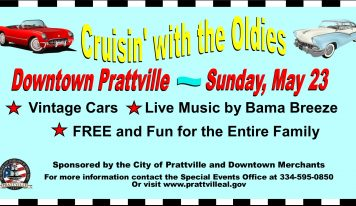 'Cruisin' with the Oldies' Coming to Downtown Prattville this Sunday, May 23